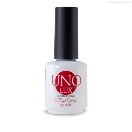 Топ Uno Lux High Gloss Top Coat 15мл
